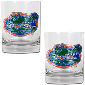 NCAA Florida Gators 2pc Rocks Glass Set