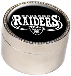 NFL Oakland Raiders Metal Trinket Box