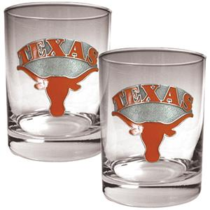 NCAA Texas Longhorns 2pc Rocks Glass Set