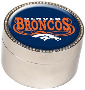 NFL Denver Broncos Metal Trinket Box