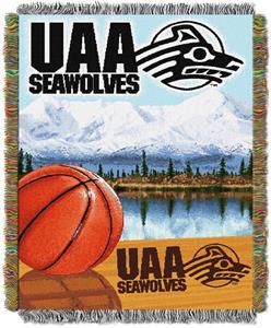 Northwest NCAA UAA Seawolves HFA Tapestry Throws
