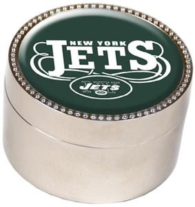 NFL New York Jets Metal Trinket Box