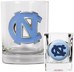 NCAA North Carolina Rocks Glass & Shot Glass Set