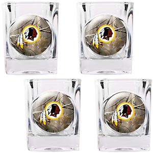 NFL Washington Redskins Open Field Shot Glasses