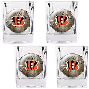 NFL Cincinnati Bengals Open Field Shot Glasses
