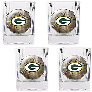 NFL Green Bay Packers Open Field Square Shot Glass