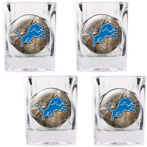 NFL Detroit Lions Open Field 4pc Square Shot Glass