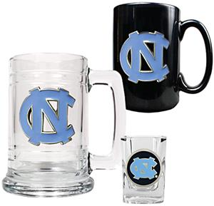 NC Tar Heels Tankard, Coffee Mug & Shot Glass Set