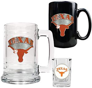 Longhorns Tankard, Coffee Mug & Shot Glass Set