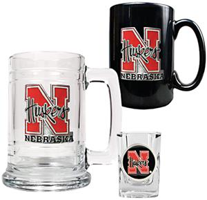 NCAA Nebraska Tankard, Coffee Mug & Shot Glass Set