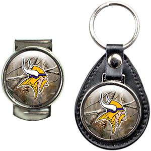 Minnesota Vikings Open Field Keychain/Money Clip