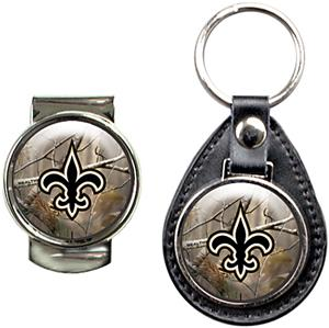 New Orleans Saints Open Field Keychain/Money Clip