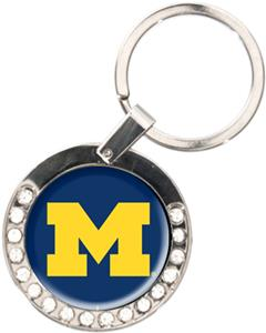 NCAA Michigan Wolverines Rhinestone Key Chain