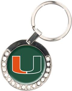 NCAA Miami Hurricanes Rhinestone Key Chain