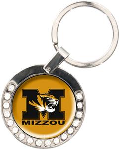 NCAA Missouri Tigers Rhinestone Key Chain
