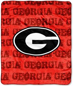 Northwest NCAA Georgia Bulldogs Grunge Throws