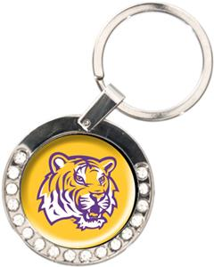 NCAA LSU Tigers Rhinestone Key Chain