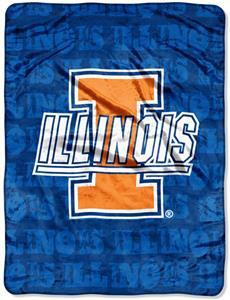 Northwest NCAA Illinois Grunge Throws