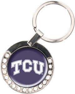 NCAA Texas Christian Rhinestone Key Chain