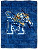 Northwest NCAA Memphis Tigers Grunge Throws