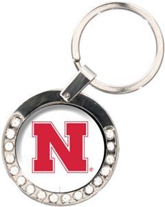 NCAA Nebraska Cornhuskers Rhinestone Key Chain