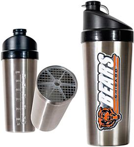 NFL Chicago Bears Stainless Steel Protein Shaker