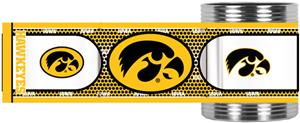 Hawkeyes Stainless Steel Can Holder Hi-Def Wrap