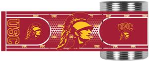 USC Trojans Stainless Steel Can Holder Hi-Def Wrap