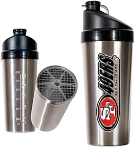 NFL San Francisco 49ers Stainless Protein Shaker