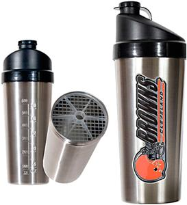 NFL Cleveland Browns Stainless Protein Shaker
