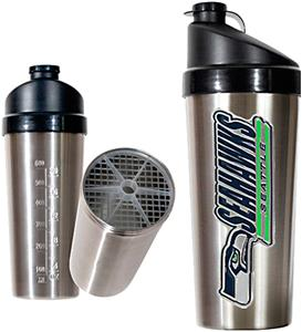 NFL Seattle Seahawks Stainless Protein Shaker