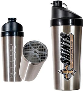 NFL New Orleans Saints Stainless Protein Shaker