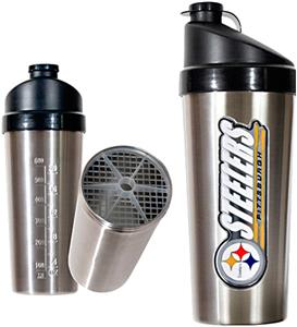 NFL Pittsburgh Steelers Stainless Protein Shaker
