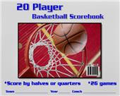 Blazer Athletic Basketball 20 Player Scorebook