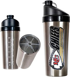 NFL Kansas City Chiefs Stainless Protein Shaker