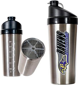NFL Baltimore Ravens Stainless Protein Shaker