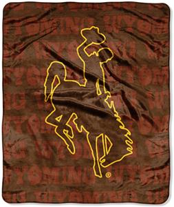 Northwest NCAA Wyoming Cowboys Grunge Throws