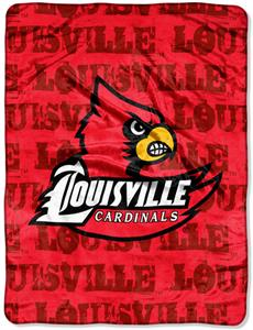 Northwest NCAA Louisville Cardinals Grunge Throws