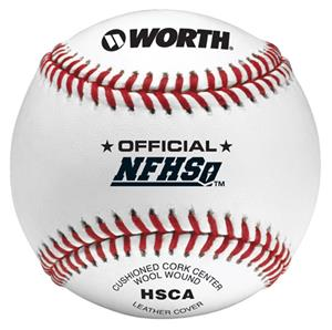 "Worth 9"" Official NFHS Pro J Leather Baseballs"