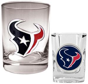 NFL Houston Texans Rocks Glass / Shot Glass Set