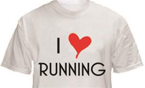 1 Line Sports I Love Running T-Shirt