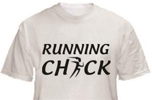 1 Line Sports Running Chick T-Shirt
