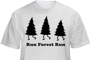 1 Line Sports Run Forest Run T-Shirt