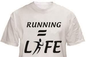 1 Line Sports Running = Life T-Shirt