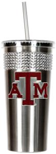 NCAA Texas A&M Aggie Stainless Bling Tumbler Straw