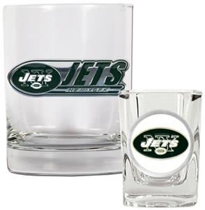 NFL New York Jets Rocks Glass / Shot Glass