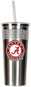 NCAA Crimson Tide Stainless Bling Tumbler Straw