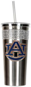 NCAA Auburn Tigers Stainless Bling Tumbler Straw