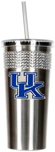 NCAA Kentucky Stainless Bling Tumbler Straw