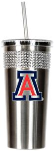 NCAA Arizona Wildcat Stainless Bling Tumbler Straw
